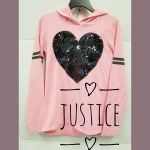 TWO Justice Hoodies Sz 10-12